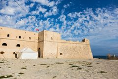 Ancient castle of Mahdia, Tunisia Stock Photos