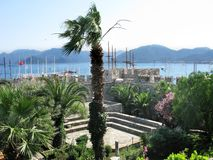 Ancient castle in marmaris turkey Stock Images