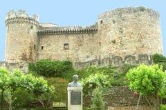 Ancient castle in Mombeltran,province Avila,Spain Stock Photos