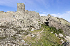 Ancient Castle in Monsanto village, municipality of Idanha-a-Nova, Portugal Stock Photos