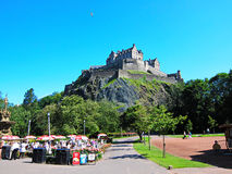 Ancient castle on the mountain in edinburgh,scotland Royalty Free Stock Photos