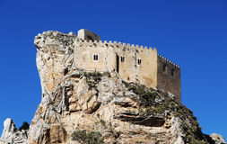 Ancient castle, mussomeli, sicily Royalty Free Stock Images