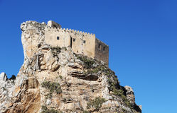 Ancient castle, mussomeli, space for ext Stock Photos