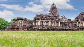Ancient castle among nature on green grass, pimai castle, historical park and ancient castle Royalty Free Stock Photo