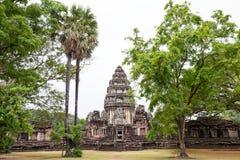 Ancient castle among nature, pimai castle, historical park and ancient castle Royalty Free Stock Image