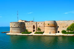 The ancient castle near the sea. The ancient castle located in the city of two sea Royalty Free Stock Photos