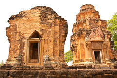 Ancient castle in northeast of Thailand Stock Photos