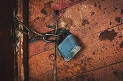 Key lock door rusty. Royalty Free Stock Images