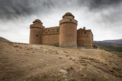 Ancient Castle-Palace in La Calahorra town, Province of Granada, Spain Stock Images