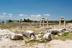 Ancient castle in Pamukkale Stock Photos