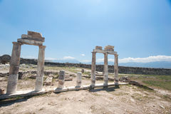 Ancient castle in Pamukkale Royalty Free Stock Photos