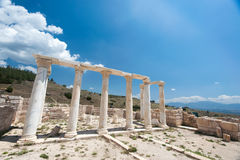 Ancient castle in Pamukkale royalty free stock photography