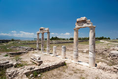 Ancient castle in Pamukkale stock photos