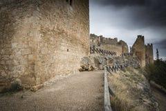 Ancient Castle of Peñaranda de Duero. Ancient Castle of Peñaranda de Duero, Burgos, Spain Stock Image