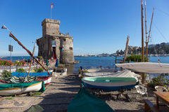The ancient castle Rapallo Stock Photography