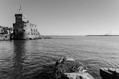 Ancient castle in Rapallo, Italy. Stock Image