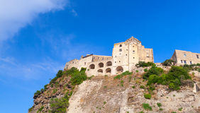 Ancient Castle on the rock, Ischia island, Italy Stock Image