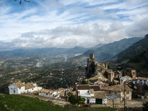 Ancient castle on the rock, La Iruela, Andalusia, Spain Stock Photography