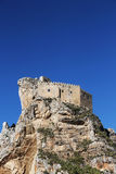 Ancient castle on a rock, mussomeli, sicily Royalty Free Stock Images