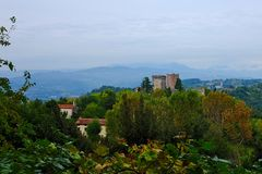 Ancient castle of Romeo in Montecchio Royalty Free Stock Photo