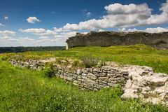 Famous Ukrainian landmark: scenic summer view of the ruins of an Stock Photos