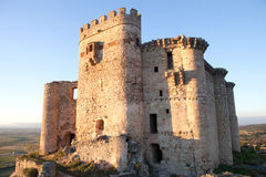 Ancient castle in ruins located in the north of Cáceres Stock Photos