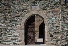 Ancient castle's entrance Royalty Free Stock Photos