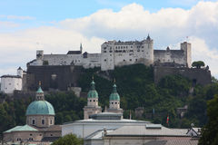 Ancient castle in salzburg Stock Photo