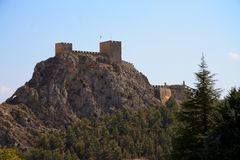 Ancient Castle Sax in Alicante Spain. Royalty Free Stock Photography
