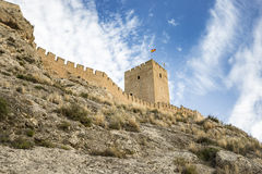 Ancient Castle of Sax - province of Alicante - Spain Stock Photos