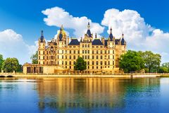 Ancient castle in Schwerin, Germany Royalty Free Stock Images