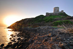 Ancient castle and sea Stock Photo