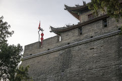 Ancient castle site. Xi`an City Wall dates back to the Ming dynasty.Rescue the ancient cities Analyses on the stability of Xi`an city wall and the bearing Stock Photos