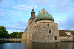 Ancient castle in the small town in Sweden. Castle created several centuries ago royalty free stock photos