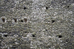 Ancient castle stone wall rampart texture Royalty Free Stock Photos