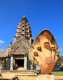 The ancient castle, Thailand Stock Images