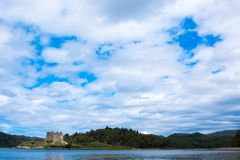 Castle Tioram scotland united kingdom europe. Ancient castle of tioram castle located on a peninsula scotland united kingdom europe royalty free stock photo
