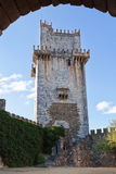 Ancient castle tower with arch in the villa of Beja in Portugal. Summer Royalty Free Stock Photo