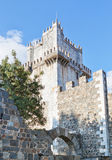 Ancient castle tower in history of the villa of Beja in Portugal. Stock Images