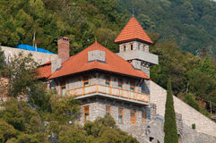 Ancient castle in the town of Gagra. Old Gagra, Abkhazia, August 30, 2016 Royalty Free Stock Photos