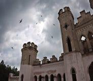 Ancient castle under dark sky Stock Photography