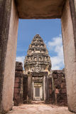 Ancient castle view from windows, pimai castle, historical park and ancient castle Royalty Free Stock Photography