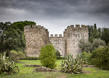 Ancient castle in Vila Viçosa town. Évora, Portugal Stock Image