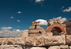 Ancient castle wall. In Nessebar, Bulgaria Stock Photography