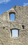 Ancient castle wall against blue sky Royalty Free Stock Photography