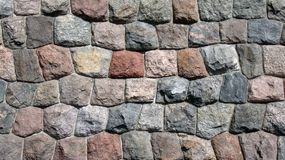 Ancient castle wall (cold colors composition) Royalty Free Stock Images