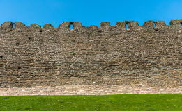 Ancient Castle Wall. Detail of part of the wall at Conwy castle, Wales Stock Photos