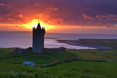 Ancient castle in the west coast of ireland Stock Photography