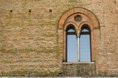 Ancient castle window Stock Photography