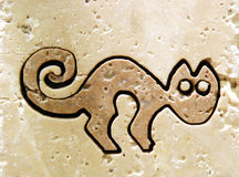 Ancient cat Royalty Free Stock Images